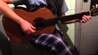 Он был художник.. почти известный Серёга поёт и играет на гитаре,перебором.