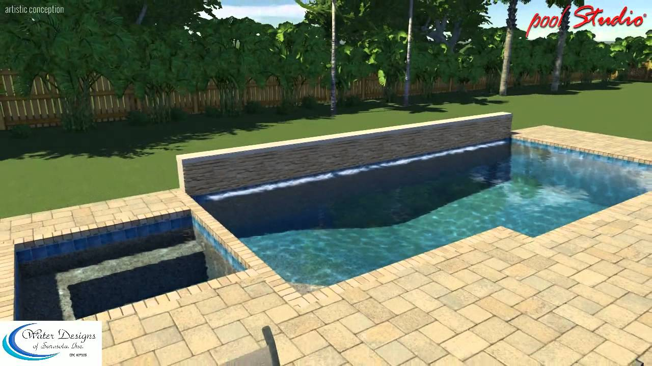 water designs of sarasota pool spa wet wall water feature