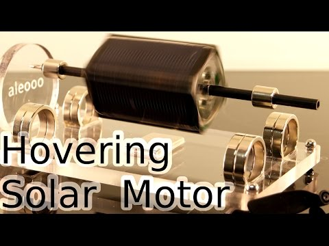 A levitating solar motor
