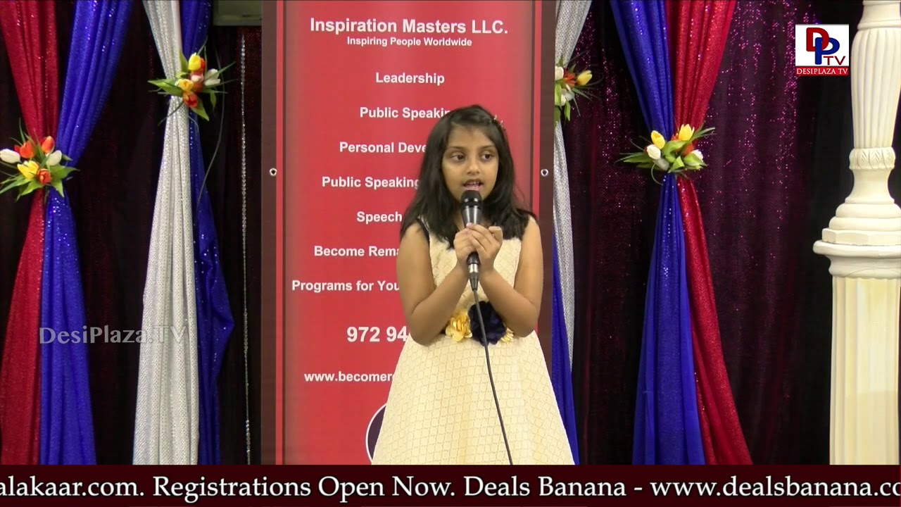 "Diya narrates ""Emily's Pictures"" story at Talking Bee - Public Speaking Competitions 2018 