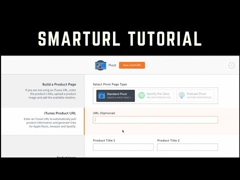 Smarturl.it Tutorial How to use Smarturl for music to sell and market