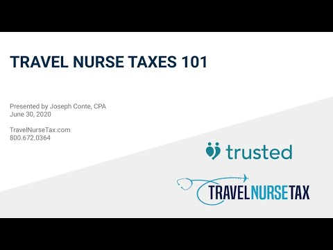 Trusted Event - Travel Nurse Taxes 101