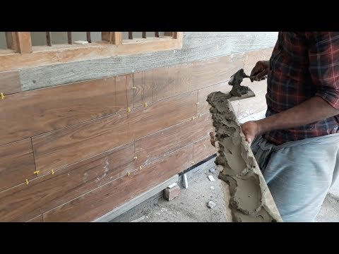 Tile That Looks Like Wood l Wooden Wall Tile installation l Beautiful Modern Wall Exterior Design