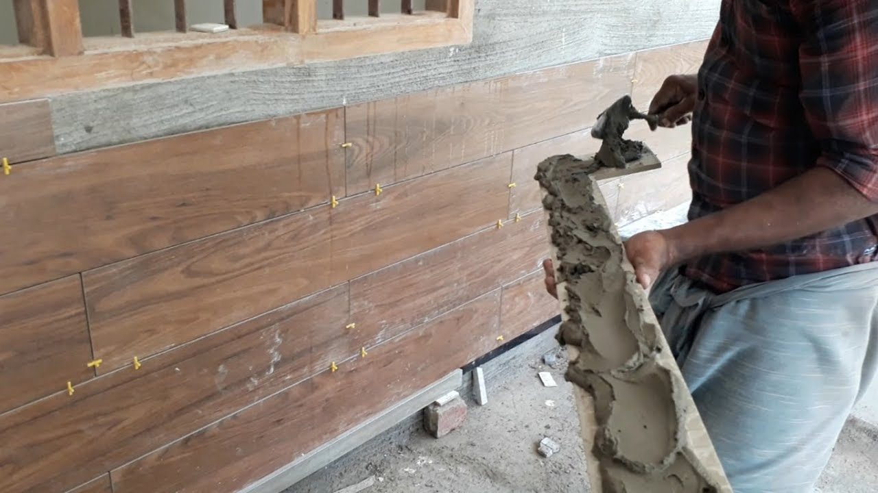 Tile That Looks Like Wood L Wooden Wall Tile Installation L À¤µ À¤¡ À¤¨ À¤Ÿ À¤‡à¤² À¤¸ À¤²à¤— À¤¨ À¤• À¤¤à¤° À¤• Youtube