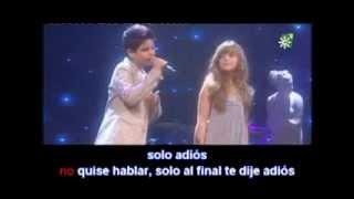 Abraham Mateo & Caroline Sin Ti Without You karaoke