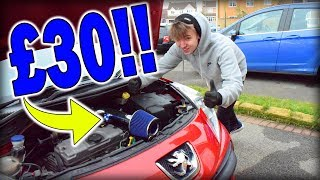 EBAY Peugeot 207 Induction Kit!! *INSTALL*