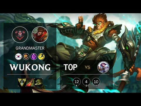 Wukong Top vs Fiora - KR Grandmaster Patch 10.16