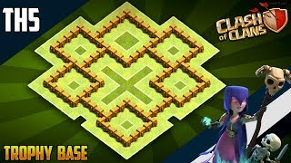 BEST Epic TH5 WAR/TROPHY Base 2019!! COC Town Hall 5 (TH5) War Base Design - Clash of Clans