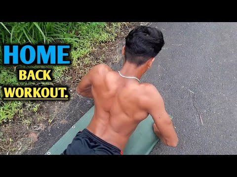 home back workout  no equipment needed  anish fitness