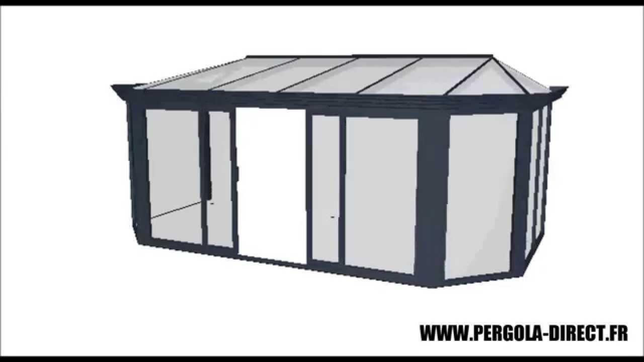 veranda kit aluminium www pergola direct fr youtube. Black Bedroom Furniture Sets. Home Design Ideas
