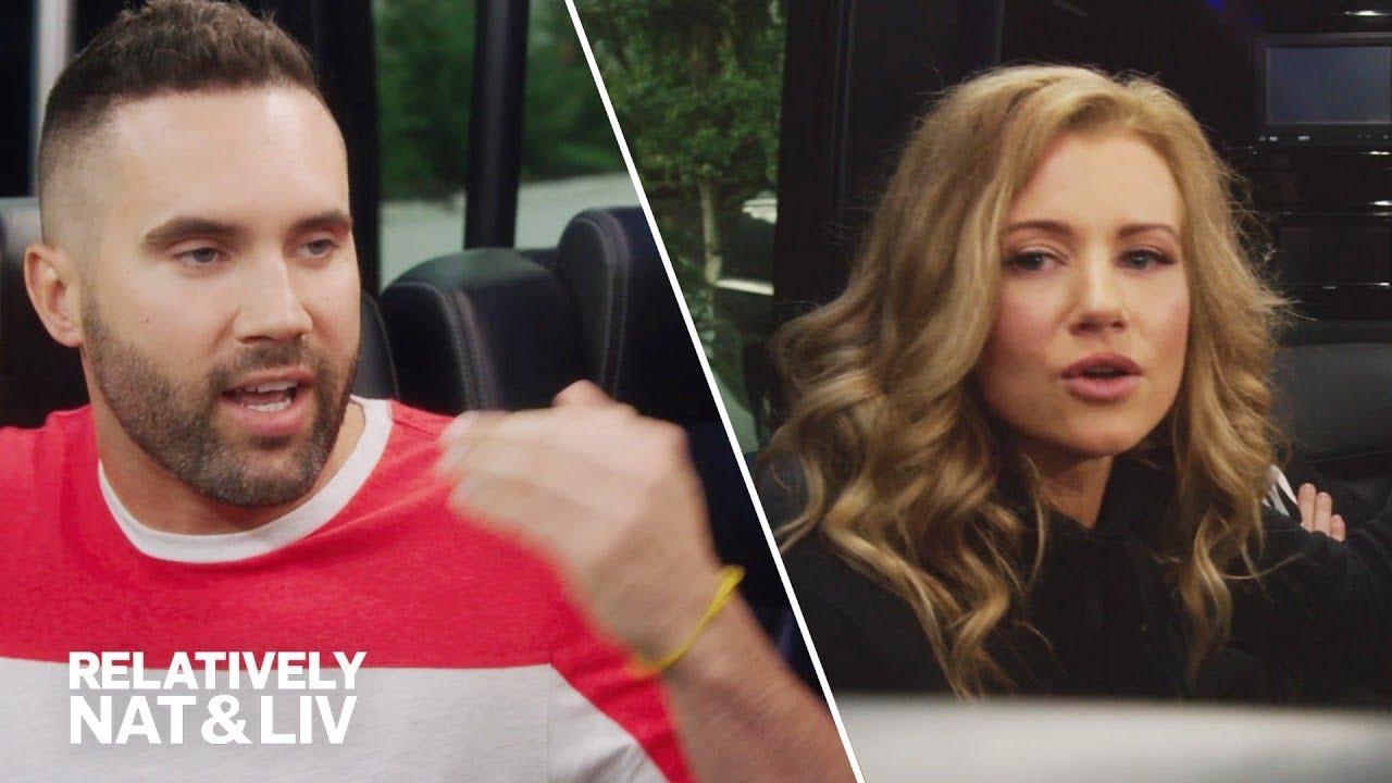 Nat & Liv's Party Bus Ride Has Vaccine Debate | Relatively Nat & Liv | E!