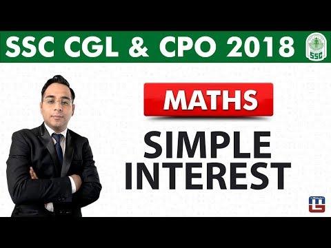Simple Interest | Maths | SSC CGL | CPO 2018