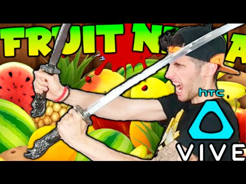 FRUIT NINJA VR !! CORTANDO FRUTA EN REALIDAD VIRTUAL !! HTC VIVE Makiman