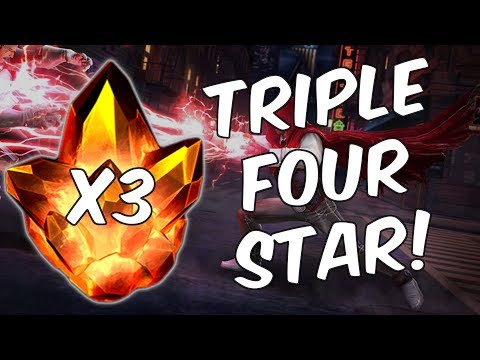 Triple Four Star Crystal Opening! - The Hood Quest Continues - Marvel Contest Of Champions