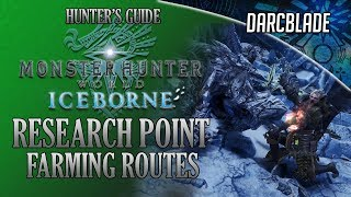 Research Point Farming Route Guide Mhw Iceborne Youtube