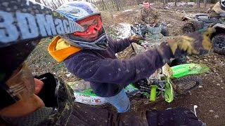 DIRT BIKE RACERS RUN FROM OLD LADY!