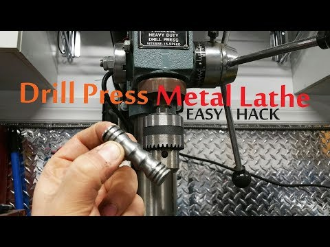 Using a Drill Press as Metal Lathe - Simple Life Hack