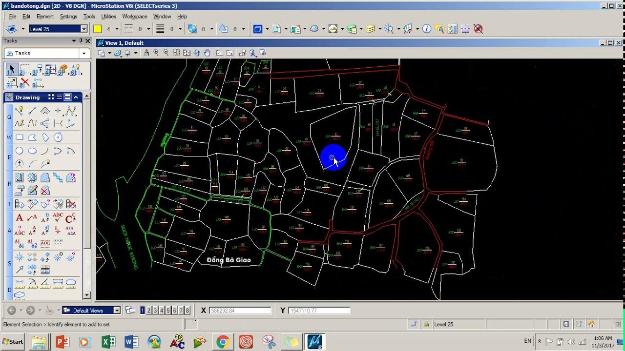 Bài 1- Ghép mảnh bản đồ trên Microstation V8i và chuẩn hóa dữ liệu
