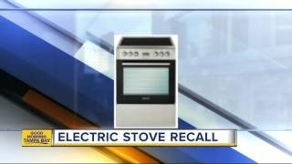 Electric range recalled after plumber dies from electrocution