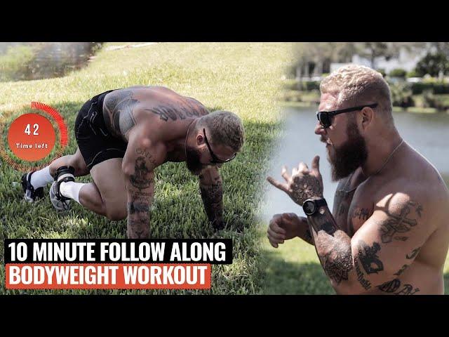 10 Minute Follow Along Fat Burning & Muscle Building Workout | No Equipment