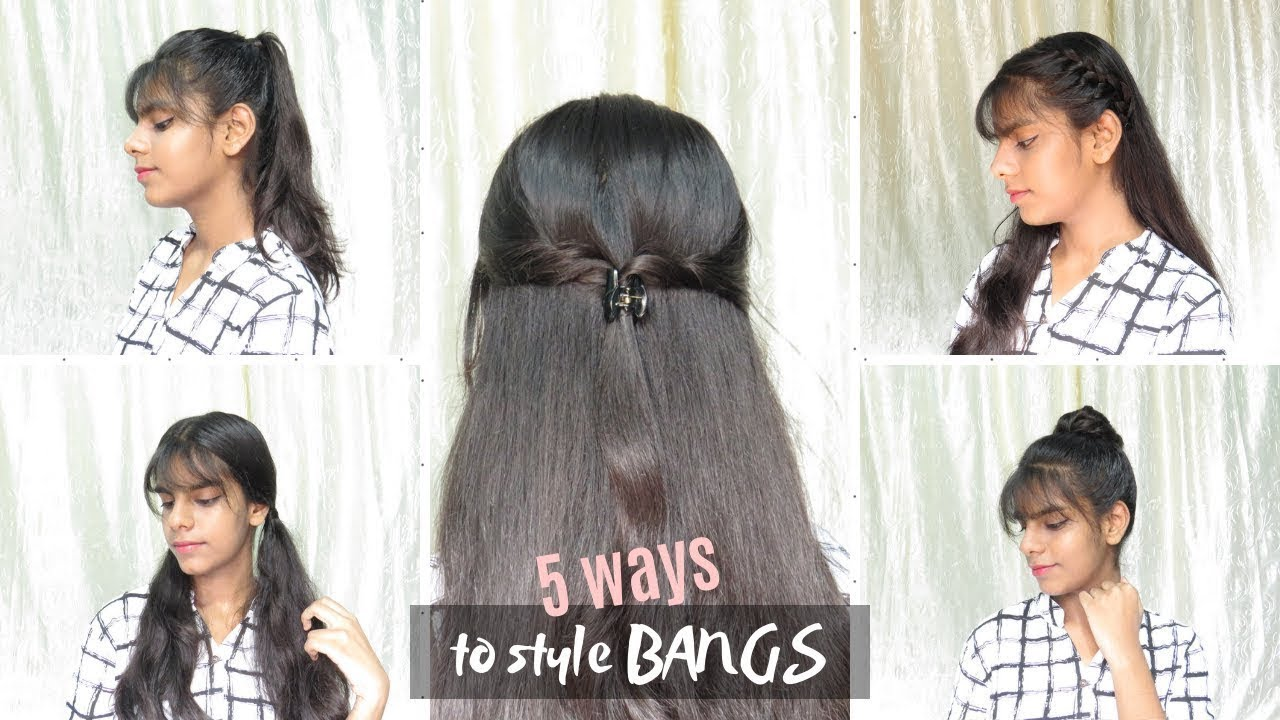 ❤️❤️11 Cute and Easy Hairstyles with Bangs / Fringe 11 for School,  College, Work💇