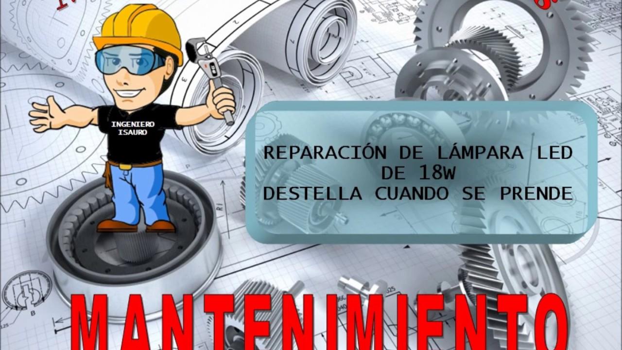 Reparación de lámpara led de 18 watts