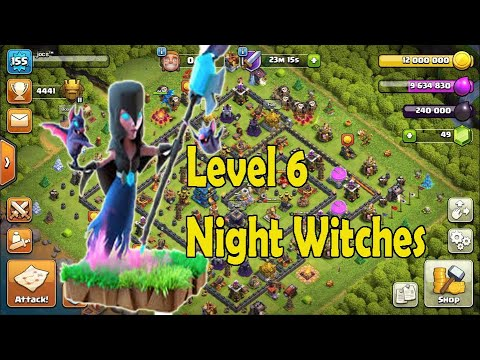 BASETEST NIGHT WITCHES LEVEL 6 I CLASH OF CLANS - YouTube