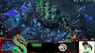 Dragon doing 'Tank Stacking Trick' - Starcraft 2