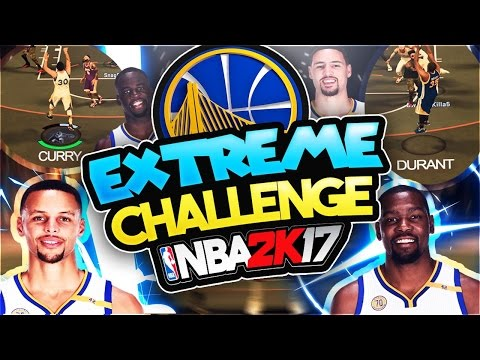 EXTREME GOLDEN STATE WARRIORS CHALLENGE 😱! | NBA 2K17 MYPARK | STEPH CURRY | KEVIN DURANT | CASH J