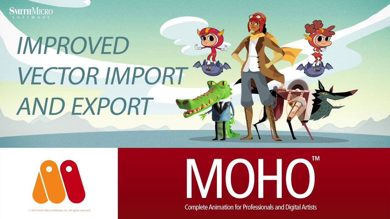 Moho 12 anime studio svg vector graphic import and export tutorial youtube