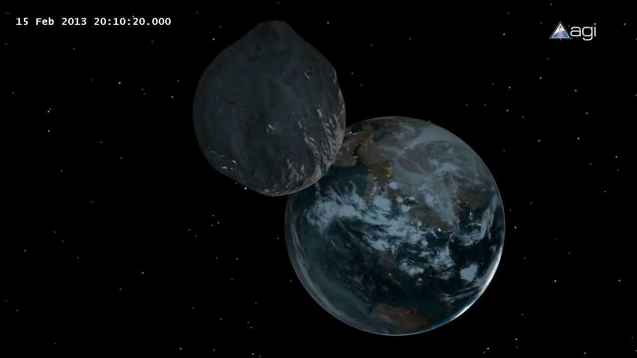 2012 DA14 Asteroid close approach - YouTube