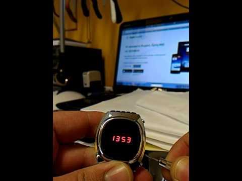Elektronika 1 Soviet Led Watch How To Set Time Youtube