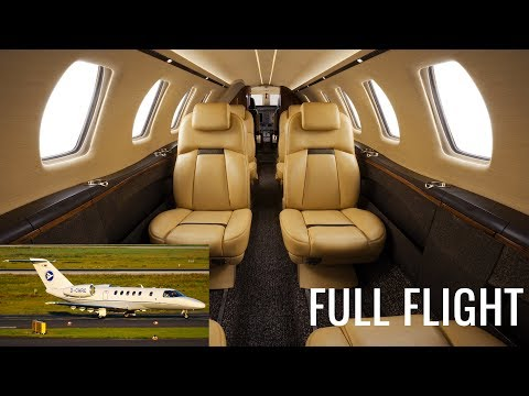 Private Jet Full Flight! | Luxembourg to Dusseldorf | Cessna Citation CJ4 (with ATC)