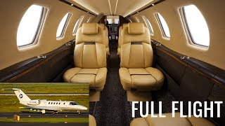 Full Flight on a Private Jet! | Cessna Citation CJ4 | Luxembourg to Dusseldorf (with ATC)