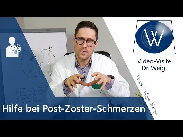 Post Zoster Neuralgie, Zosterschmerzen: Nervenschmerzen durch den Herpes - Dauer & Schmerztherapie
