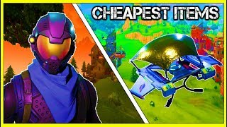 Fortnite: BEST LOOKING CHEAPEST SKINS, PICKAXES & GLIDERS! *MUST WATCH*