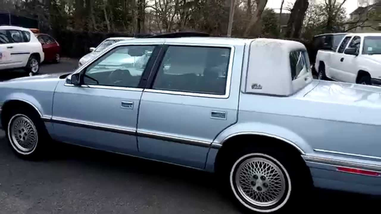1992 chrysler new yorker youtube for 1990 chrysler new yorker salon