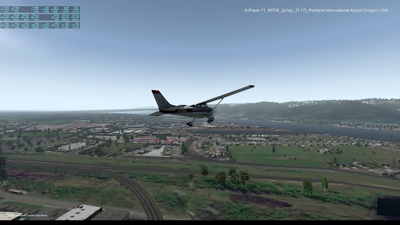 X Plane 11_KPDX [g2xpl ZL17] Portland International Airport Oregon USA