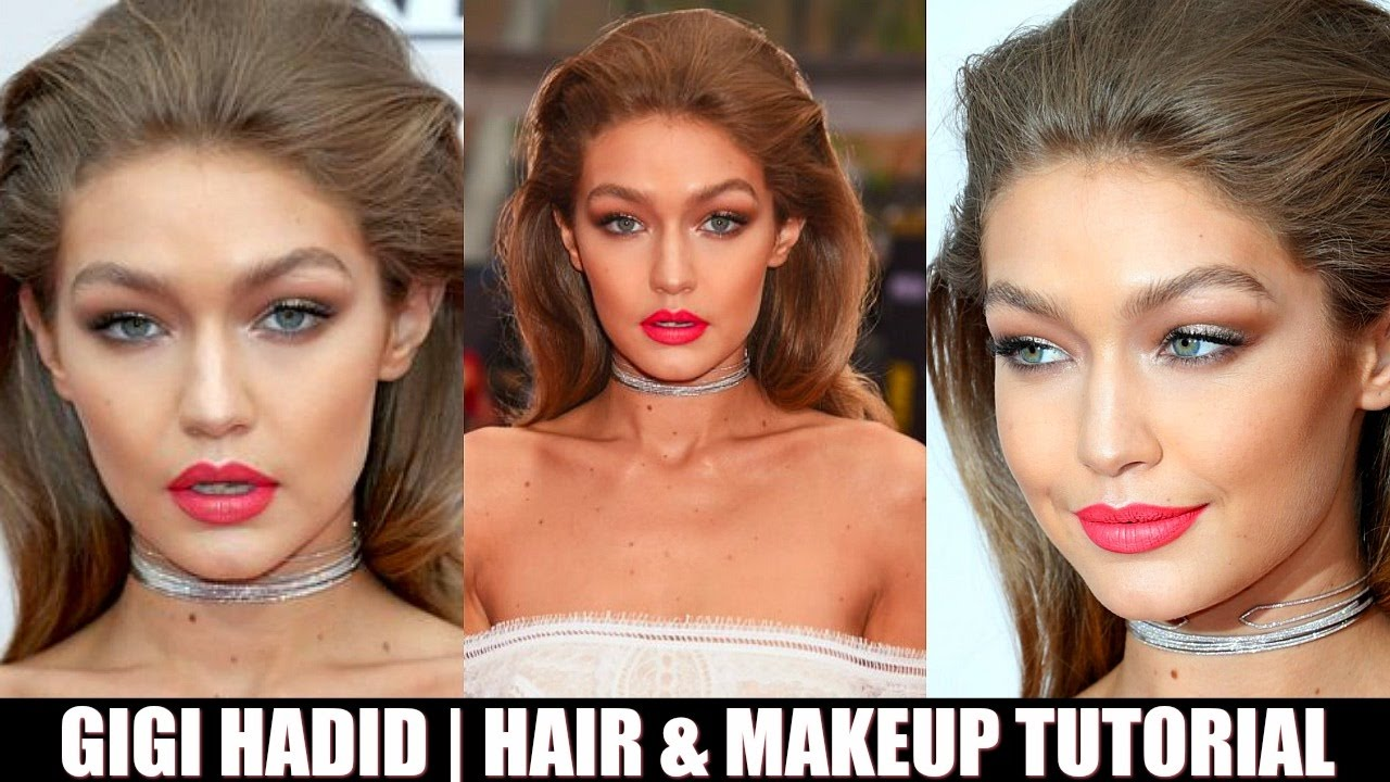 GIGI HADID Inspired Hair & DRUGSTORE Makeup Tutorial | AMA'S 2016