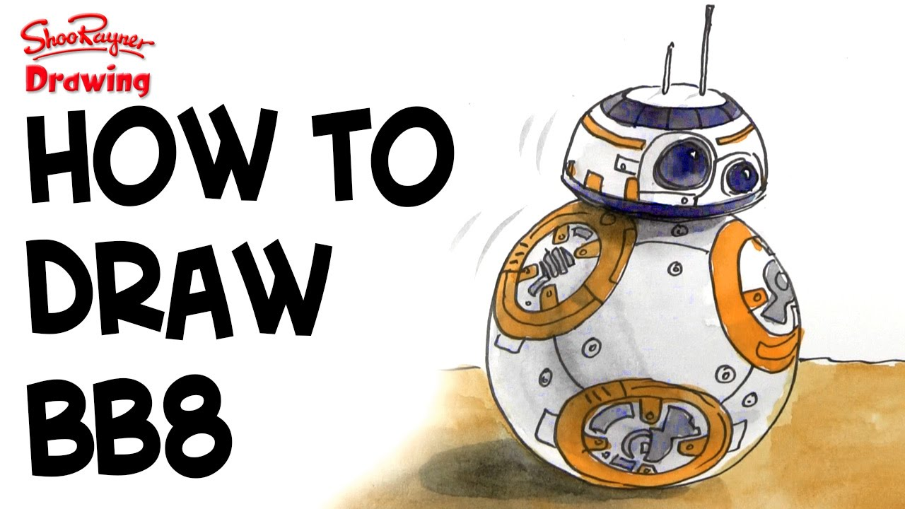 How to draw BB8 - Star Wars 7 - The Force Awakens - YouTube