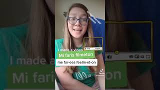 """How to say """"I made a video"""" in Esperanto #shorts"""