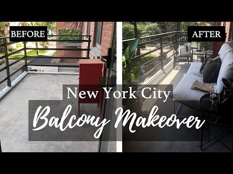 EXTREME BALCONY MAKEOVER! | NYC SMALL SPACE REDESIGN