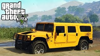 ★ GTA 5 - INSANE Hummer H1 4x4 Off-Roading, Mudding, & Mountain Climb Mod Showcase! (GTA V PC Mods)