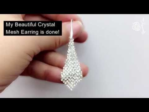 How to make a Swarovski Crystal Mesh Earring