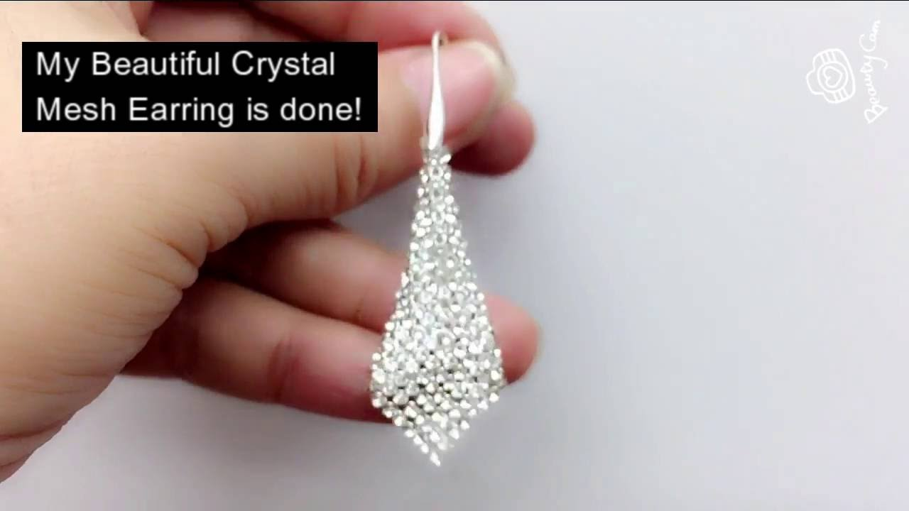 How To Make A Swarovski Crystal Mesh Earring