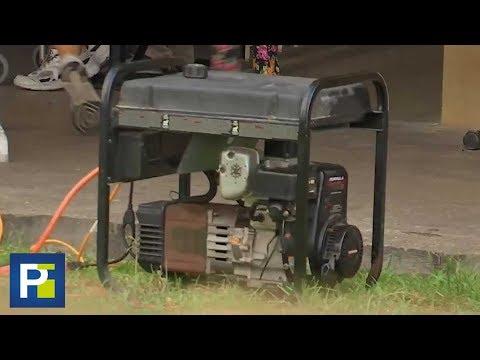 El Peligro De Usar Un Generador Eléctrico Por La Falta De Luz Tras El Paso De Un Huracán