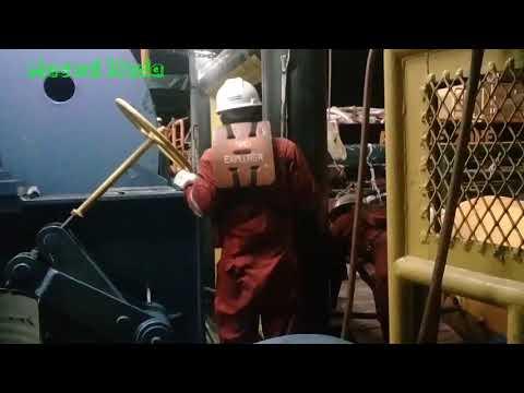 ANCHOR HANDLING 1087 Mengeluarkan Penan Wire Dari Winch Anchor