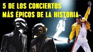 5 de los conciertos más épicos de la historia