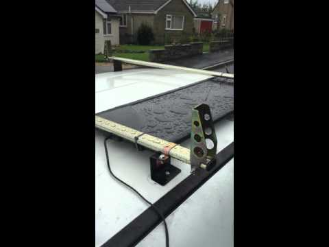 Part 1 of my solar panel set up for window cleaning