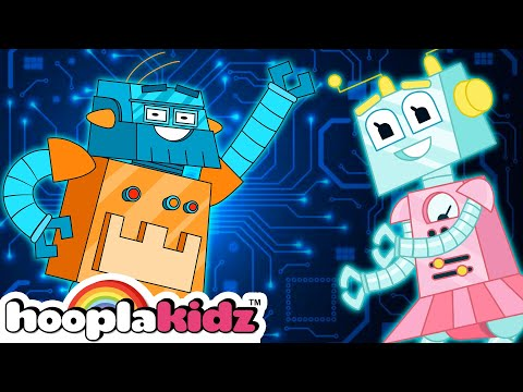 Robot Finger Family Nursery Rhymes Collection and Many More | Robot Song for Kids by HooplaKidz